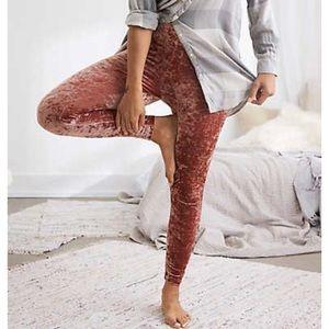 Aerie blush velvet leggings